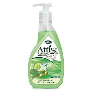 Attis Olívás és uborkás folyékony szappan, pumpás adagolóval, 400 ml