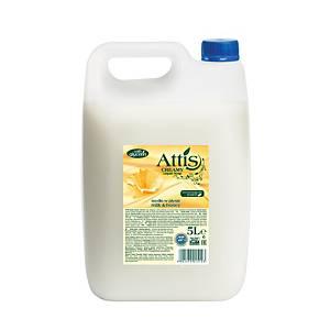 Attis Mézes és tejes folyékony szappan, 5 l
