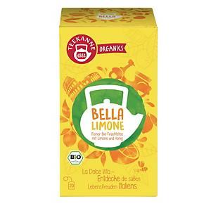Čaj Teekanne Bio Organics, svěží citron, 20 sáčků, á 2,25 g