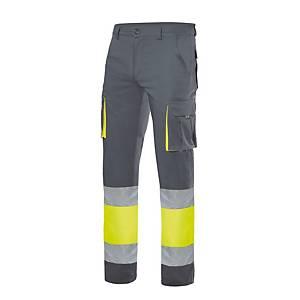 Pantalón de alta visibilidad Velilla 303002S - gris/amarillo - talla 3XL