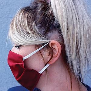 Kankainen kasvomaski 2-kerroksinen, tummanpunainen, 1 kpl=5 maskia