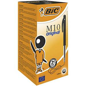 Bic Clic Retractable Ball Point Black Pens 0.3mm Line Width - Box of 50