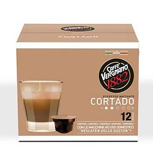 Kávové kapsle Vergnano Cortado, 12 kapslí
