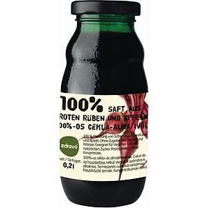 Zdravo természetes 100%-os gyümölcslé, cékla - alma, 0,2 l, 10 darab/csomag