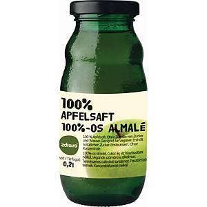 Zdravo természetes 100%-os gyümölcslé, alma, 0,2 l, 10 darab/csomag