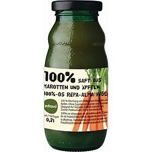 Zdravo természetes 100%-os gyümölcslé, répa - alma, 0,2 l, 10 darab/csomag