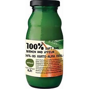 Zdravo természetes 100%-os gyümölcslé, körte - alma, 0,2 l, 10 darab/csomag