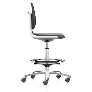 Chaise haute pivotante Prosedia Labsit Fresh 9125,hauteur d assise 56-81cm,blanc
