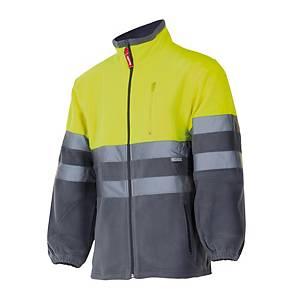 Chaqueta polar de alta visibilidad Velilla 183 - amarillo/gris - talla 2XL