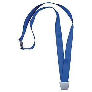 Lacet textile recyclé pour badge Avery No Twist - 44 cm - bleu - boîte de 10