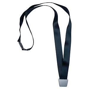 Lacet textile recyclé pour badge Avery No Twist - 44 cm - noir - boîte de 10