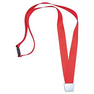 BX10 DURABLE 4843R BADGE NECKLACE RED