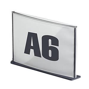 Plaque de porte Paperflow Cinatur, A6, anthracite, la pièce