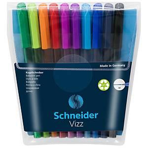 Schneider Vizz Kugelschreiber-Set mit Geltinte, M, Set mit 10 Stück
