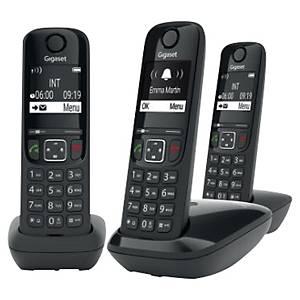 Téléphone sans fil Gigaset AS690 + 2 combinés supplémentaires