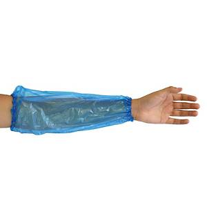 Manche de protection Light Hygonorm 28269, PE, long: 40cm, bleu, paquet de 100