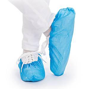 Couvre-chaussures Standard Hygostar 2850, PE, 41cm, bleu, paquet de 100 pièces