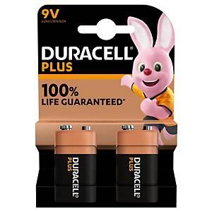 Duracell Plus 100% 9V, per 2