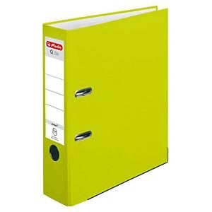 Herlitz Q.file Standardordner, halbplastisch, Rückenbreite 8 cm, neon grün