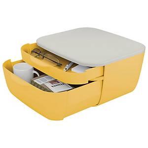 Cassettiera 2 cassetti Leitz Cosy polistirene giallo