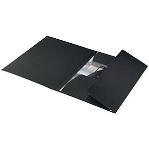 Cartella a 3 lembi Leitz Recycle cartoncino A4 nero - conf. 10