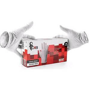 Jednorazové latexové rukavice CXS Bert, veľkosť 8, 100 kusov