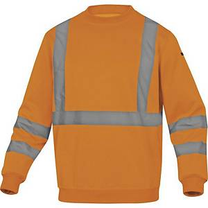 DELTAPLUS ASTRAL Hi-Vis sweatshirt, size L, orange