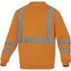 DELTAPLUS ASTRAL Hi-Vis sweatshirt, size XL, orange