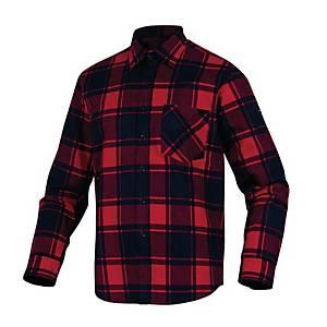 Camicia manica lunga Deltaplus Ruby a scacchi rosso / nera tg M