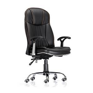 仿皮高背油壓扶手轉椅 A024