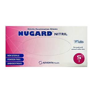 NUGARD 白色丁腈手套 細碼 (100隻)
