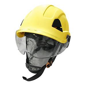 Honeywell 安全帽連面片及Y型下巴帶 黃色