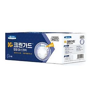 크린가드 44271 청정마스크 50(K) 백색