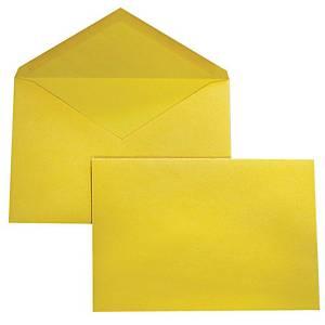 Buste taglio a punta Blasetti con lembo gommato 180 x 240 mm giallo - conf. 25
