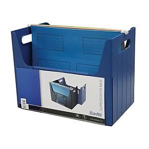 Bantex 辦得事 吊掛式文件架 A4 藍色