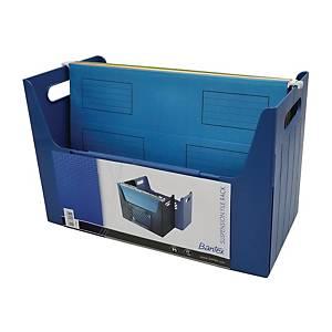 Bantex 辦得事 吊掛式文件架 F4 藍色