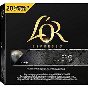 L OR Onyx Kaffeekapseln, 20 Stk