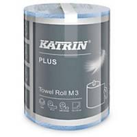 Papírové utěrky v roli Katrin Plus 58037, M3, 55 m, modré, 3 vrstvy