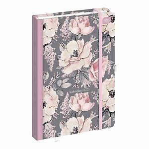 Kalendarz INTERDRUK A5, tygodniowy, kwiaty