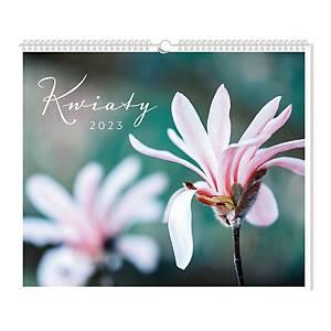 Kalendarz ścienny INTERDRUK, 32x32 cm, kwiaty
