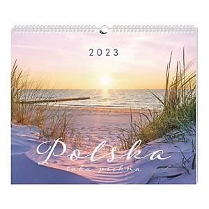 Kalendarz ścienny INTERDRUK, 32x32 cm, podróże