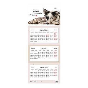 Kalendarz trójdzielny INTERDRUK, zwierzęta