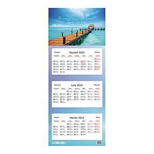 Kalendarz trójdzielny INTERDRUK, podróże