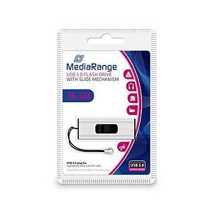 MediaRange MR915 USB pendrive, USB 3.0, kapacitás: 16 GB