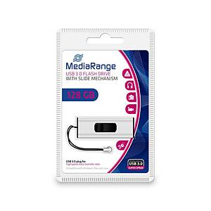 MediaRange MR918 USB pendrive, USB 3.0, kapacitás: 128 GB