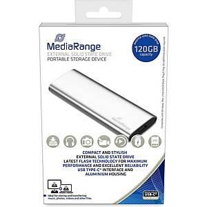 Externes MediaRange MR1100 SSD-Laufwerk, USB 3.2, Typ C, Kap. 120 GB