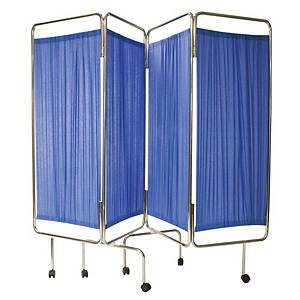 Code Red Medical Screen W/Curtains Blue