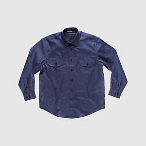 Camisa de manga comprida Workteam B8200 - azul marinho - tamanho 46