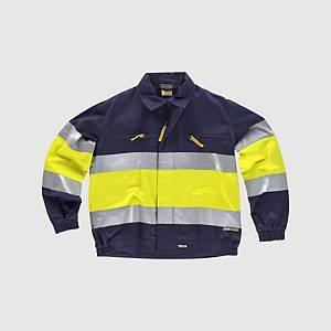 Blusão de alta visibilidade Workteam C4119 - amarelo/azul - tamanho L