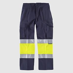 Pantalón de alta visibilidad Workteam C4019 - amarillo/azul - talla 38